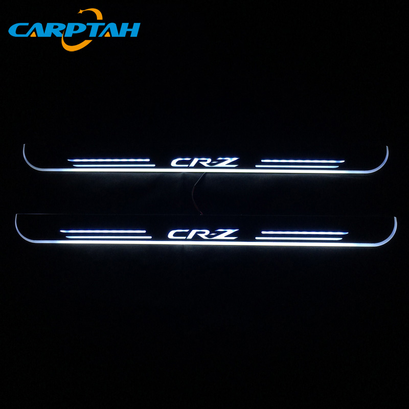 CARPTAH Trim Pedal Car Exterior Parts LED Door Sill Scuff Plate Pathway Dynamic Streamer light For Honda CR-Z CRZ 2010 - 2018