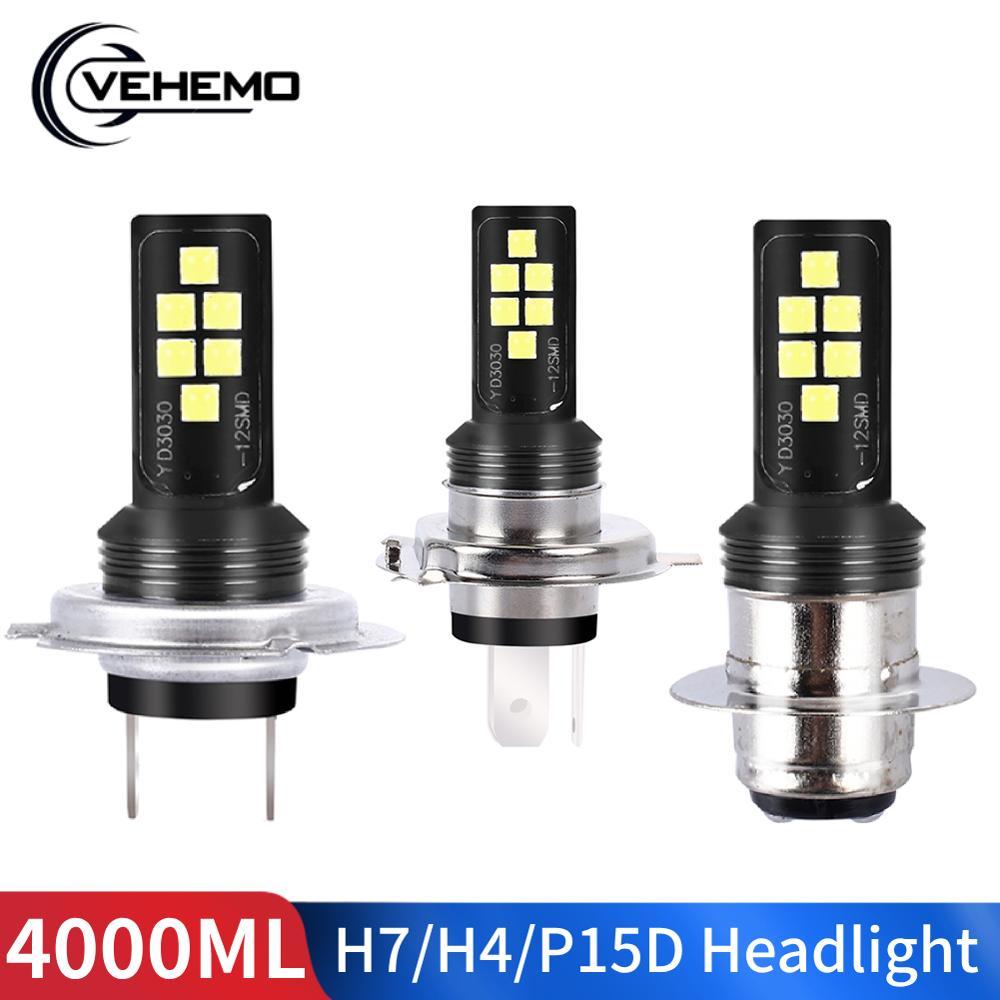 H7 LED H4 P15D LED Motorcycle Headlight Bulbs Auto Hi/Lo Far Fog Light Motorbike Moto Headlamp Ebike Car Light
