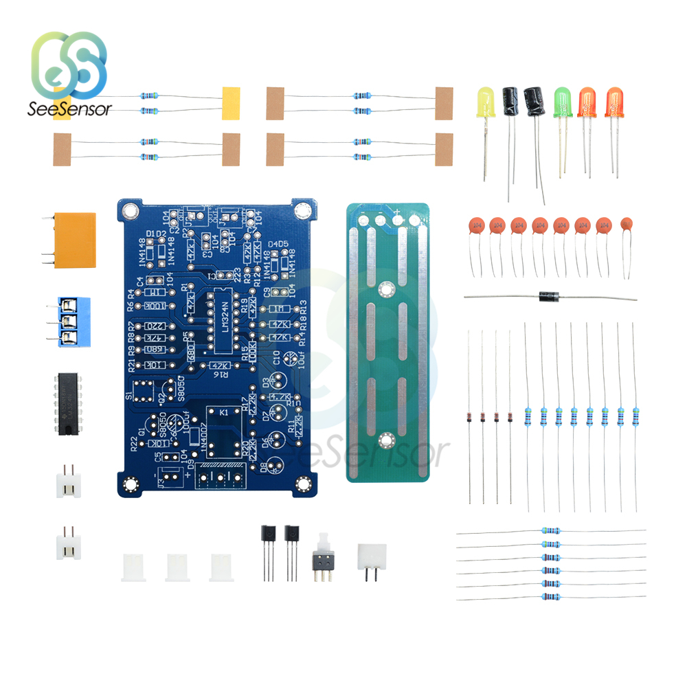 DC 5V Water Liquid Level Controller Sensor Module DIY Kits Water Level Detection Sensor Switch Three Color LED Indicator Light
