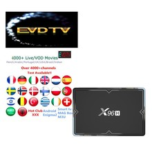 4000 + Livetv Evdtv X96H 9.0 IPTV Arab UK USA Portugal Spanyol Polandia Swedia Iran Israel Bahasa Perancis Code Set top Box(China)