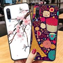 3D Flower Emboss Case For Meizu note 9 16th 16xs 16s 16 x cute carton back cover case Soft TPU