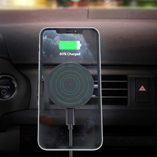 아이폰 12 프로 최대 12 프로 12 미니 15W 무선 전화 충전 패드에 대 한 공기 콘센트 자석 홀더와 자동차 무선 충전기