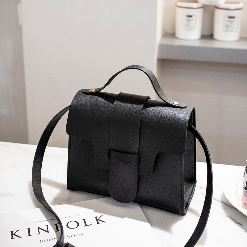 Women's Fashion Leather Simple Solid Handbag Small Shoulder Bags Crossbody Bags For Girls Messenger Bags For Female
