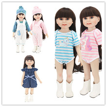 цена Fit 18 inch 43cm Doll Clothes Born New Baby Doll Unicorn girl hat Nightgown Doll Clothes Accessories Set For Baby Birthday Gift онлайн в 2017 году