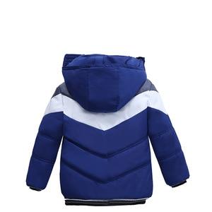 Image 4 - 아동 코트 2020 소년 자켓 가을 코트 아동 겉옷 겨울 가을 긴팔 따뜻한 후드 코트 1 2 3 4 5 years Boys