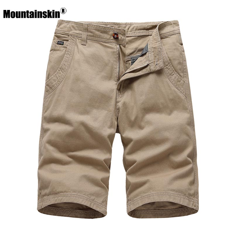 Mountainskin 2020 Mens Casual Shorts New Summer Retro Knee Length Shorts Sports Solid Color Short Pants Brand Clothing SA903