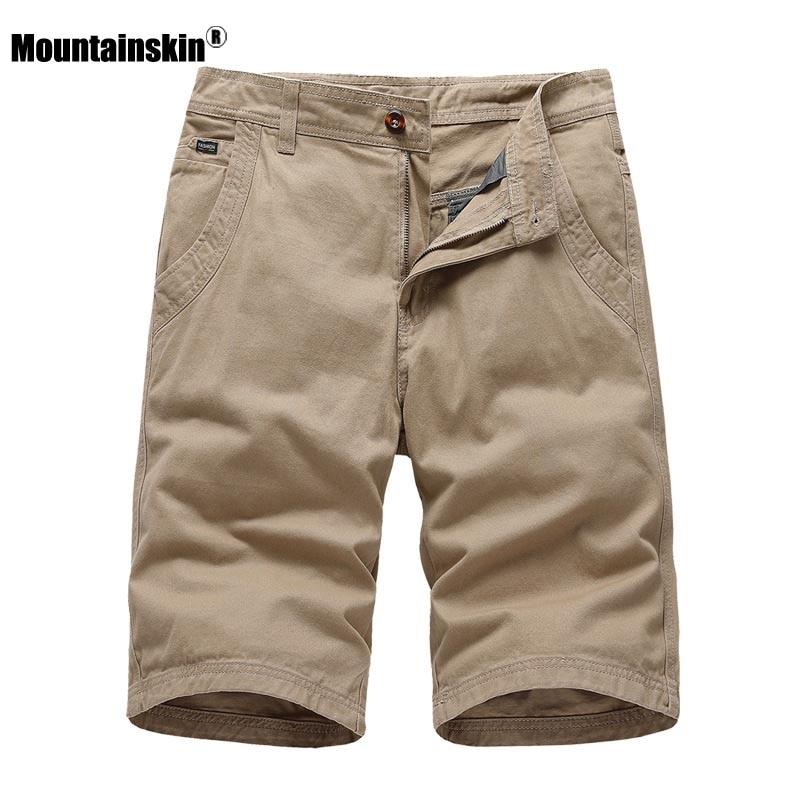 Mountainskin 2020 Mens Casual Shorts New Summer Retro Knee Length Shorts Sports Solid Color Short Pants Brand Clothing SA903