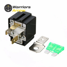 цена на 12V 30A On/Off Car 4-Pin Normally Open Contacts Fused Relay With Metal Bracket