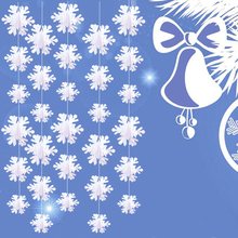 Hanging Snowflake Ornament Christmas Winter Wonderland Birthday Party Home New Year Garden Festival Decorations Supplies