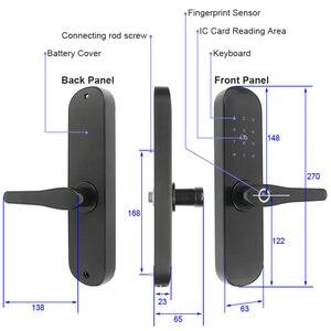 Image 3 - RAYKUBE biyometrik parmak izi kilidi şifre/akıllı kart/Bluetooth TT kilidi APP geçici şifre kilidini ev otel için R FG6