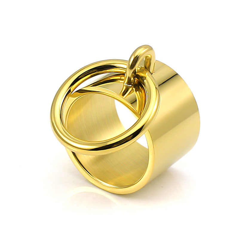 Нержавеющая сталь 316 L Серебряный цвет 1 шт. Модные женские/мужские кольца Hiragana O простой личности широкий интерфейс ювелирные изделия никогда не выцветают