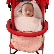 Детская трикотажная и бархатная Прогулочная ДЕТСКАЯ КОЛЯСКА с конвертом, сумка, чехол для ног в детскую коляску, Детский Теплый конверт, спальные мешки для малышей, сохраняющие тепло зимой