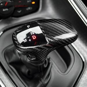 Image 3 - Carbon Fiber For Dodge Challenger SRT Charger SRT 2015 2018 2019 Car Accessories Interior Trim Gear Shift Knob Cover
