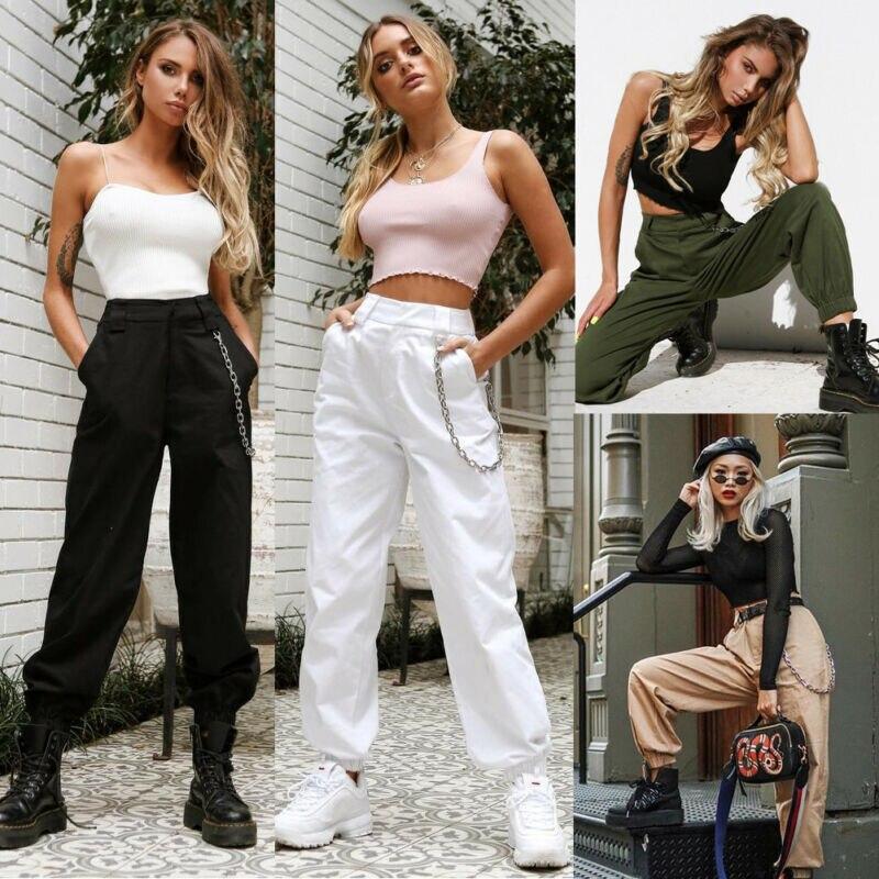 Women High Waist Arrival Pant Elegant Hip Hop Vogue Pant Ladies Pantalon Femme Harajuku Trousers Streetwear Dames Kleding