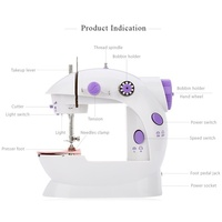 Mini Handheld Sewing Machines Home Sewing Tools Needle Arts Multifunction Electric Automatic Craft Dual Speed Double Thread