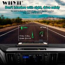 WiiYii H6 HUD Màn Hình Smartphone Trên Xe Hơi Máy Chiếu Thiết Bị Dẫn Đường GPS Overspeed Hệ Thống Cảnh Báo Kính Chắn Gió Máy Chiếu