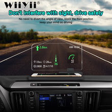 WiiYii H6 HUD ראש Up Display רכב Smartphone מקרן רכב GPS Navigator Overspeed אזהרת מערכת שמשה קדמית מקרן
