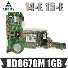 Akemy 713258-501 713258-001 DA0R62MB6E0 Para HP Pavilion 14-E 15-E 15-E028TX Laptop MotherBoard HM76 DDR3 HD8670M 1GB