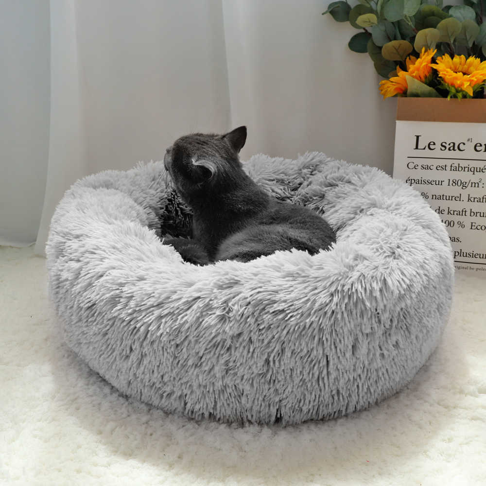 Comfortable Soft Pet Bed Sofa for Small Media Big Dog cat Anti Anxiety Donut Dog Bed NIBESSER Dog Calming Bed Plush Round Donut Cuddler Dog Bed Washable Dog and Cat Cushion Bed