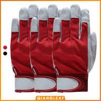 QIANGLEAF 3 шт модные красные продукты механические кожаные рабочие перчатки с покрытием безопасные промышленные рабочие защитные спортивные п...