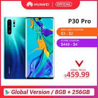 Globale Versione Huawei P30 Pro 8GB 256GB Kirin 980 Octa Core Per Smartphone 50x Zoom Digitale Quad Camera 6.47 ''completo di Schermo OLED NFC
