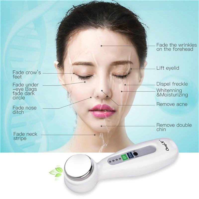 Ultraschall Vibration Gesichts Massager Import Export Gesicht Heben Haut Pflege Schönheit Maschine Haut Straffende Verschärfung Gesicht Reiniger 45