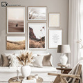 Осенний пейзаж, скандинавский постер, закат, трава, пустыня, холст, печать, настенная живопись, скандинавский Декор для дома, картина