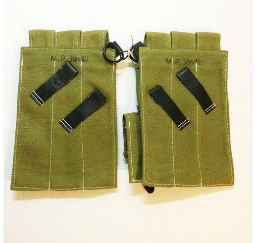 Tomwang2012. Wwii WW2 Duitse Leger Elite Wh Heer MP38 MP40 Soldaat Canvas Munitie Pouch Militaire Oorlog Reenactments