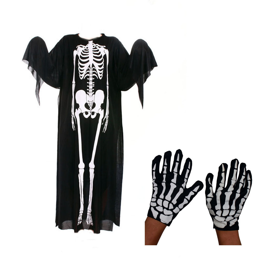 Halloween Costumes Decoration Scary Skull Ghost Glove Mask For Adults And Children Kids Masquerade Decoration