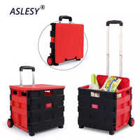 Foldable Car Trunk Storage Box Shopping Grocery Cart Portable Travel Food Basket Container Large Capacity Collapsible Organizer