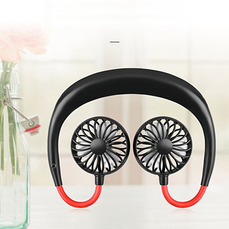 Usb Portable Fan Hands-free Neck Fan Hanging Rechargeable Mini Sports Fans 3 Gears Air Conditioner Adjustable Home 2000 Mare