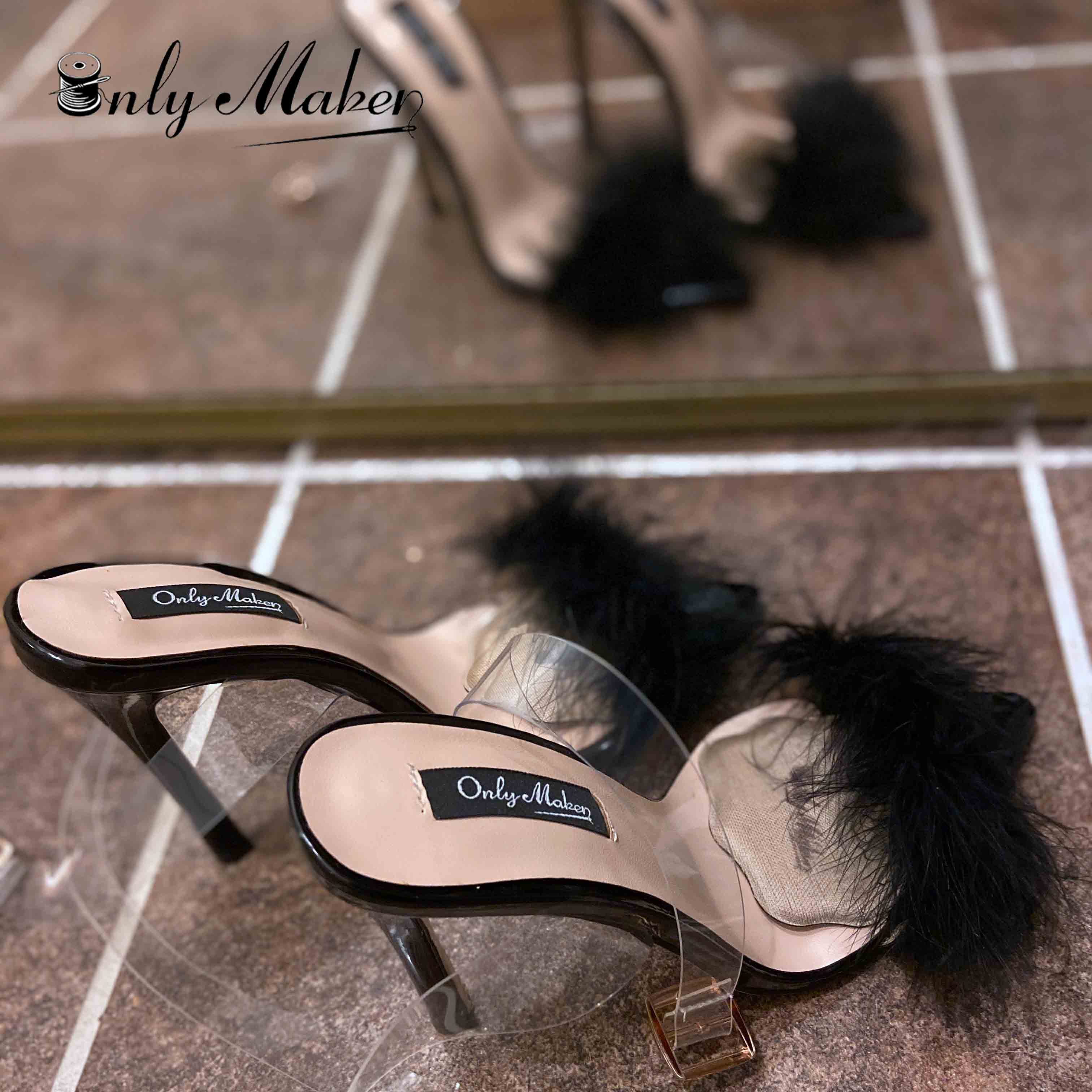 onlymaker Women/'s Slingback Pumps Pointed Toe Ankle Strap Animal Print High Heel