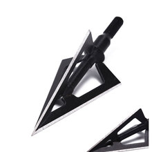 Arrowheads Crossbow Steel Hunting Gold/black Tip for And 3-Blades 1pcs