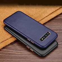Soft Genuine Sheep Leather Case For Samsung Galaxy S10 Plus S10E S8 Plus Luxury Good Touch Shockproof Phone Cases Back Cover Bag