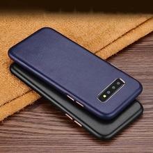 Weiche Echte Schafe Leder Fall Für Samsung Galaxy S10 Plus S10E S8 Plus Luxus Gute Touch Stoßfest Telefon Fällen Zurück abdeckung Tasche