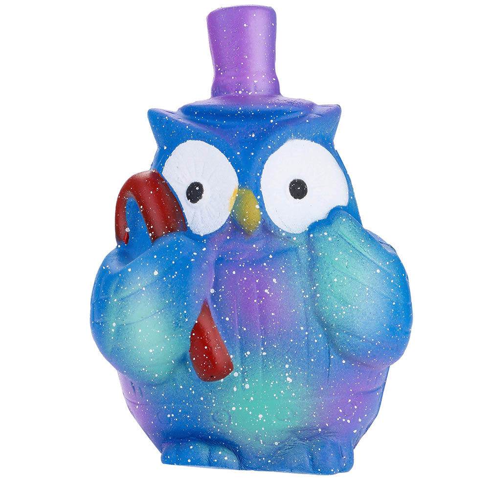 Starry Cute Owl Squeeze Stress Reliever Fun Toy Children Funny Gadgets Slow Rising Scented Relieve Stress Toy Gifts #A