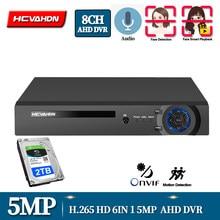 8CH 5MP-N AHD CCTV Camera DVR AHD H.264 Hybrid 5 Megapixel NVR Digital Video Recorder for 2MP 4MP 5MP AHD/TVI/CVI/IP Cameras