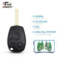 Dandkey 433MHz ID46 PCF7947 Chip 3 Tasten Auto Remote Key Fob Für Renault/Kangoo II/Clio III auto Ersatz Keyless Alarm-in Autoschlüssel aus Kraftfahrzeuge und Motorräder bei