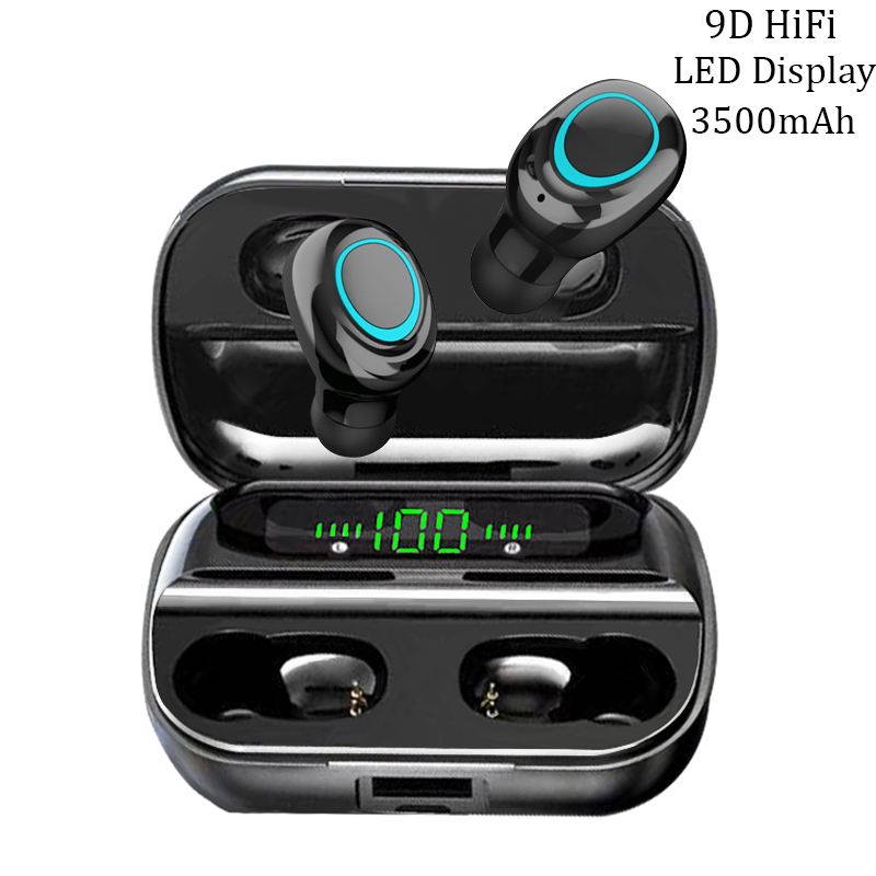AERBOS Tws Bluetooth 5 0 Wireless Earphones S11 Touch Control In Ear Headphones with Microphone 3500 mAh Power Bank Mini Earbuds