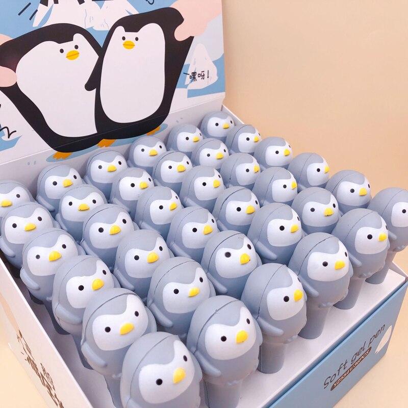 1X Soft Sponge Penguin Pressure Relief Gel Pen School Stationery 0.5mm Black