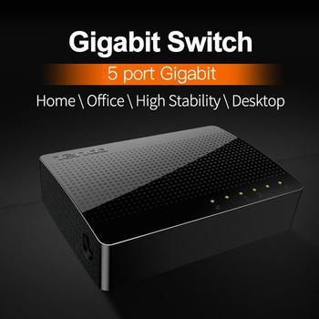 Tenda SG105 Gigabit Mini 5-Port Desktop Gigabit Switch / Fast Ethernet Network Switch LAN Hub/ Full or Half duplex Exchange
