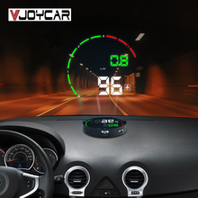 Alarm Windshield-Projector Head-Up-Display Vjoycar OBD2 Hud-Gauge Water-Temperature-Voltage