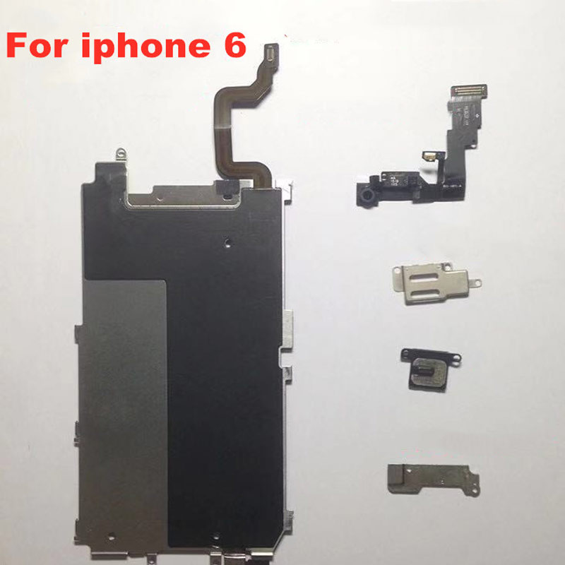 for iPhone 5 5s 5c 6 6 Plus 6s 6splus 7 7plus LCD Back Plate with Connection Flex Cable + full set screws image
