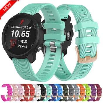 20mm Silicone Sport Watch Band For Garmin 245 Strap Sports Forerunner 245M/645/Vivoactive3/Vivomove HR Bracelet - discount item  50% OFF Watches Accessories