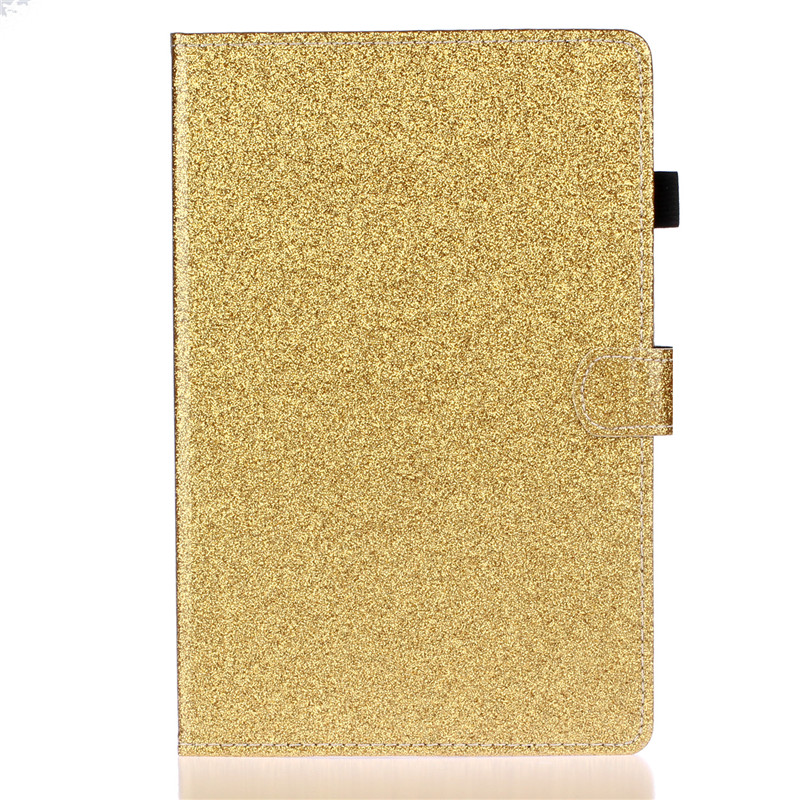 Gold Black For iPad 7th generation case Bling Glitter Flip Wallet Stand Tablet Cover For Apple iPad 10