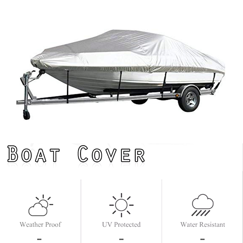 Boat Cover Yacht Outdoor Protection Waterproof Boat Cover Silver Reflective
