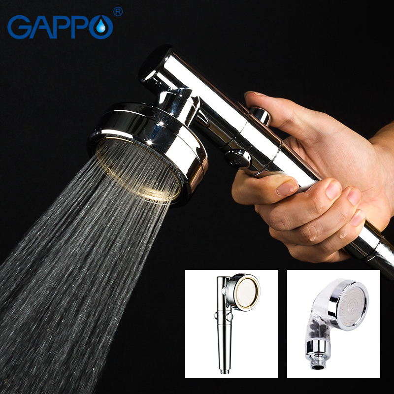GAPPO Shower Head 360 Degree Rotatable  With Water Control Button Filter High-pressure Water-saving Watering Head Rain Shower