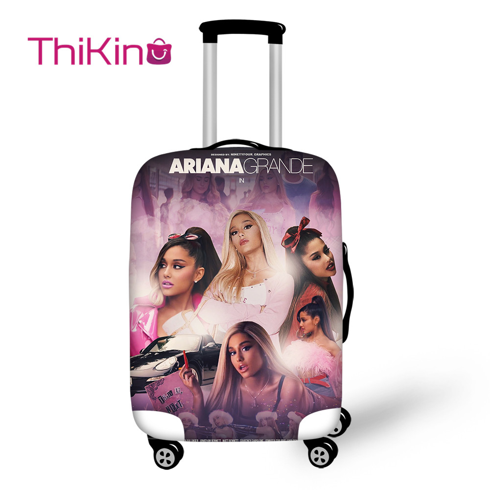 Thikin Ariana Grande Travel Luggage Cover For Girls Cartoon School Trunk Suitcase Protective Cover Travel Bag Protector Jacket