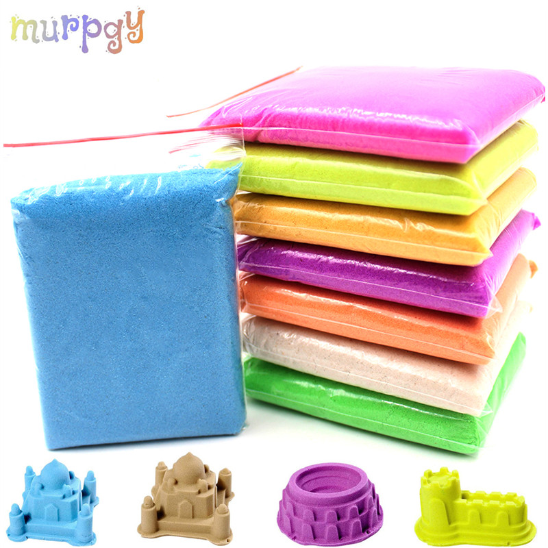 Hot Dynamic Sand Soft Magic Sand DIY Indoor Playing Toys For Children Modeling Clay Slime Play Learning Educational Kids Toys