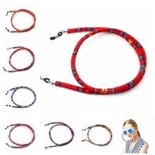 18 pièces 6mm rond rétro lunettes de soleil lunettes de soleil coton cou chaîne cordon retenue sangle lunettes porte lanière en gros